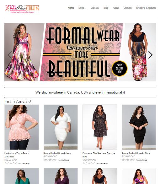 SexyPlus Clothing Website