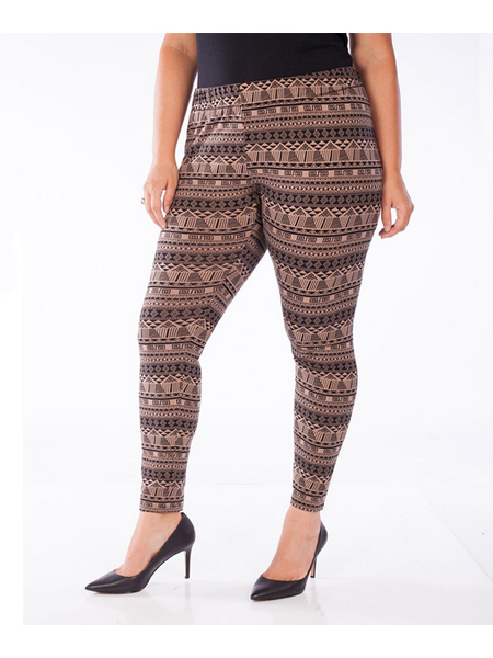 Point Zero Curvy Tribal Print Leggings